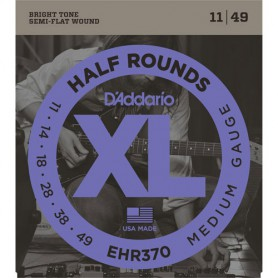 Cordes Elèctrica D'Addario Half Rounds EHR370 Half Rounds 11-49