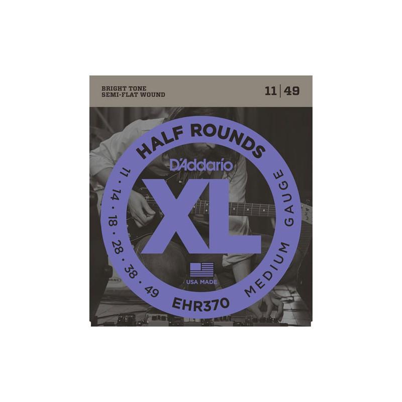 Cuerdas-Eléctrica-D´Addario EHR370 Half Rounds 11-49