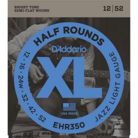 Cordes Elèctrica D'Addario EHR350 Half Rounds 12-52