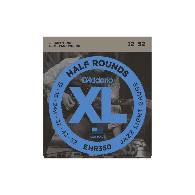 Cuerdas-Eléctrica-D´Addario EHR350 Half Rounds 12-52