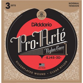 Cuerdas Clásica D´Addario Proarte EJ45-3D Normal Tension 3 Sets