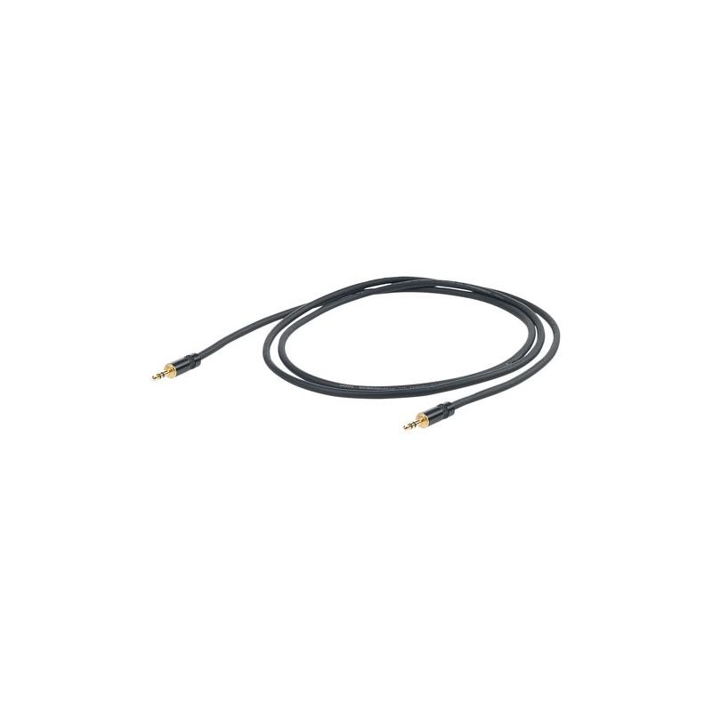 Cable-Instrumento-Proel-CHLP175LU5 Mini Jack-Mini Jack Stereo