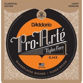 Cuerdas Clásica D´Addario Proarte Classic Nylon EJ43 Light Tension