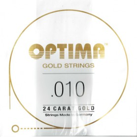 Corda Solta Elèctrica Optima Gold Strings 010 Plana