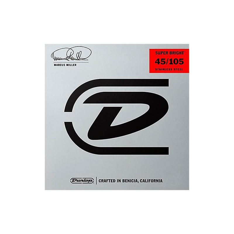Cuerdas-Bajo-Dunlop-Marcus-Miller Super Bright 45-105 Stainless Steel