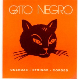 Cuerdas Clásica Gato Negro Nylon Blanco
