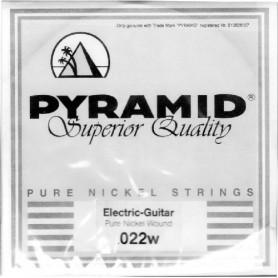 Cuerda Suelta Pyramid Pure Nickel Round Core 022 Entorchada