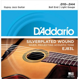 Cuerdas Acústica D´Addario Gypsy Jazz EJ83L 10-44 Ball End Light Gauge