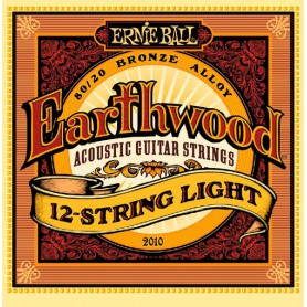 Cordes Acústica Ernie Ball 2010 Earthwood 12 String Light