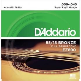 Cordes Acústica D'Addario EZ890 Great American Bronze 80/15 09-45