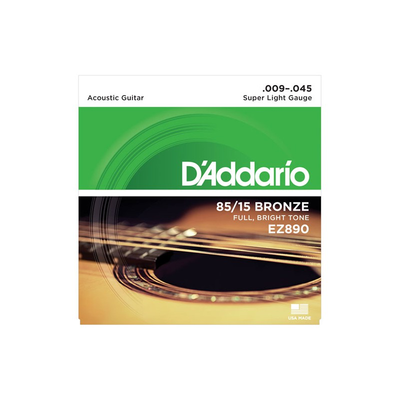 Cuerdas-Acústica-D´Addario-EZ890 85-15 Bronze 09-45