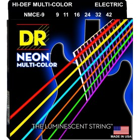 Cuerdas-Eléctrica-DR-Strings Neon Multicolor