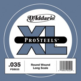 D'Addario Pro Steels Wound Single Bass String PSB035