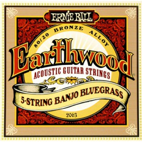 Cordes Banjo Ernie Ball Earthwood 2063 Bluegrass 5 Strings