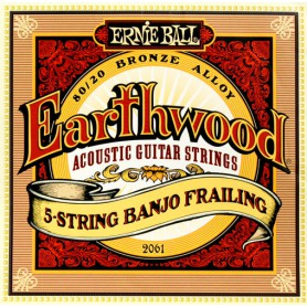 Ernie Ball 2061 Earthwood 5 String Banjo Frailing Bronze