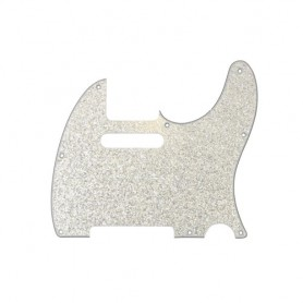 Tele Style 3 Ply Sparkling Silver Pickguard