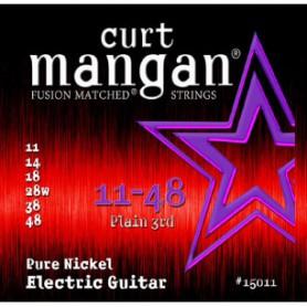 Cuerdas-Eléctrica-Curt-Mangan Pure Nickel 11-48