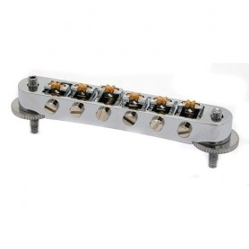 Goldo Tune-O-Matic Roller Bridge Nickel