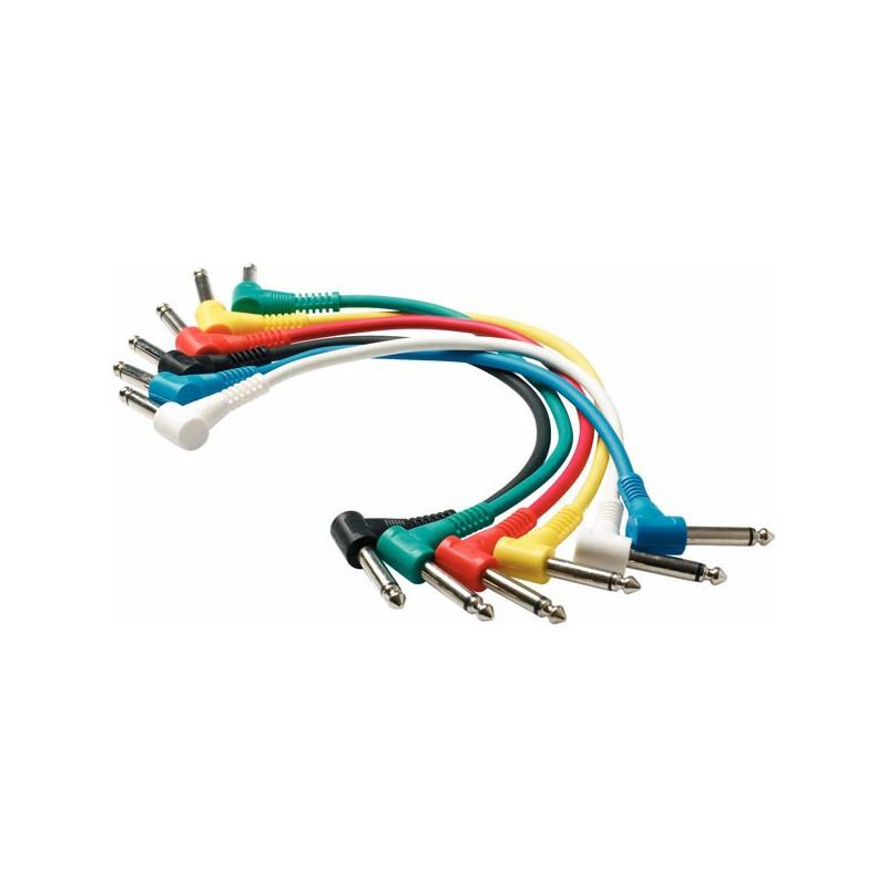 Cable Patch Rockcable per Pedals 15 cm. Pack de 6 unitats.