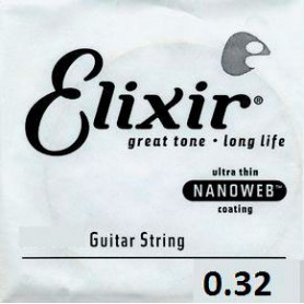 Elixir Nanoweb Single Electric Wound String 032