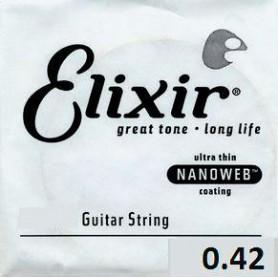 Cuerda suelta Eléctrica Elixir Nanoweb Entorchada 042