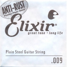 Elixir Nanoweb Electric Plain Single String 009