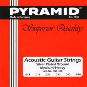 Cuerdas de Acústica Pyramid Silver Plated Wound Medium-Heavy 11-50