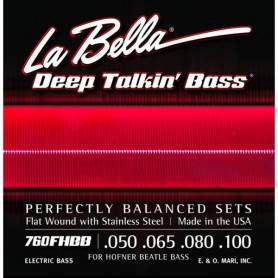 Cuerdas de bajo La Bella Deep Talkin' Flatwound Bass Strings 760FHBB 50-100