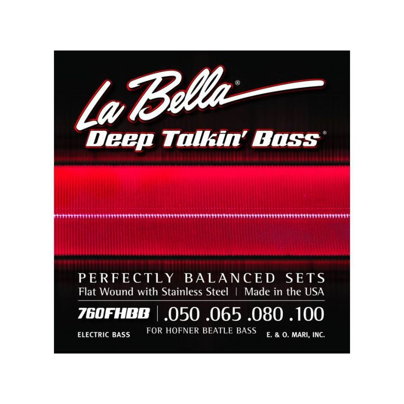 Cordes de baix La Bella Deep Talkin 'Flatwound Bass Strings 760FHBB 50-100