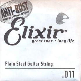 Elixir Nanoweb Electric Plain Single String 011