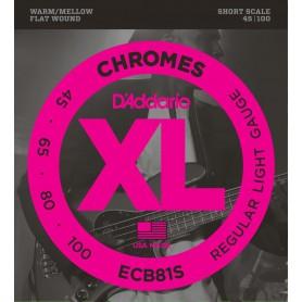 D´Addario Chromes ECB81S Flatwound 45-100 Short Scale