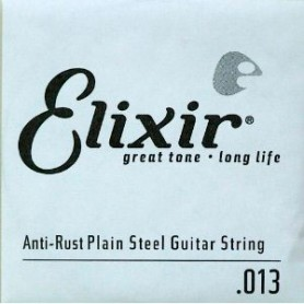 Elixir Nanoweb Electric Plain Single String 013