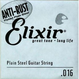 Elixir Nanoweb Electric Plain Single String 016