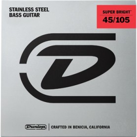 Cuerdas Bajo Dunlop Super Bright Steel 45-105