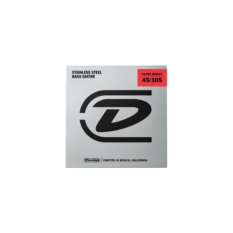 Cuerdas-Bajo-Dunlop-Super-Bright Steel 45-105