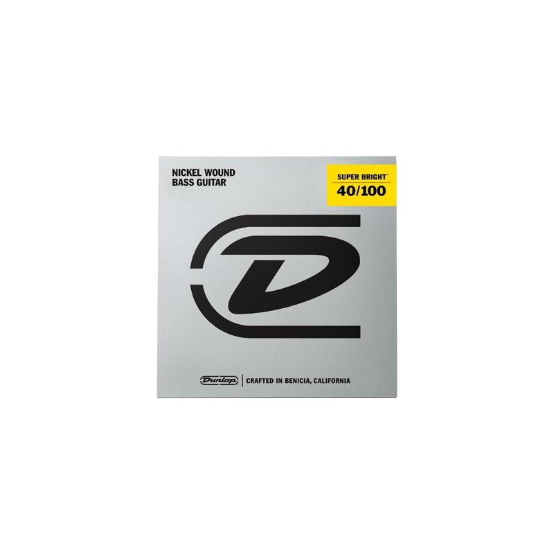 Cuerdas-Bajo-Dunlop-Super-Bright Nickel 40-100