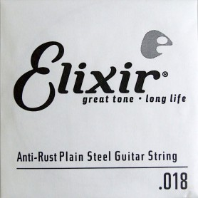 Elixir Nanoweb Electric Plain Single String 018