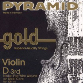 Cuerdas Violin Pyramid Gold 4/4