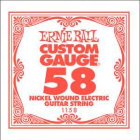 Corda Solta Elèctrica Ernie Ball Nickel entorxada 058
