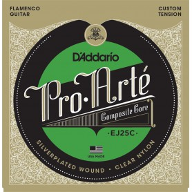 D´Addario Pro Arte EJ25C Flamenco Clear Nylon Composite