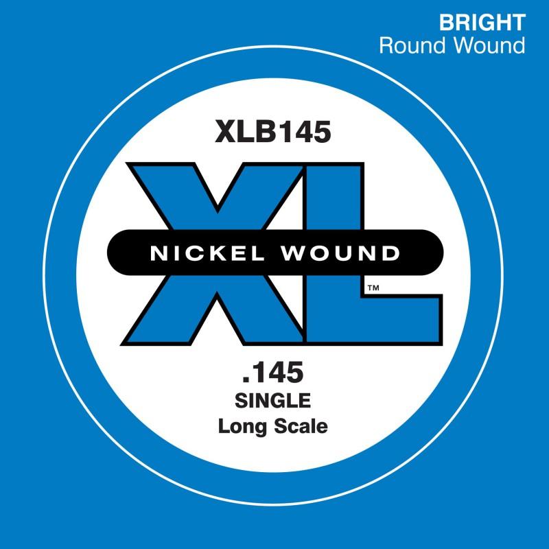 D'Addario Nickel Wound Single Bass String XLB145
