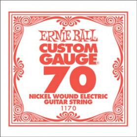 Corda Solta Elèctrica Ernie Ball Nickel entorxada 070