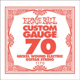 Ernie Ball Nickel Wound Single String 070