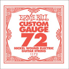 Ernie Ball Nickel Wound Single String 072