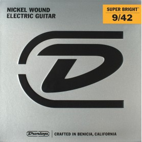 Cuerdas Eléctrica Dunlop Nickel Super Bright 09-42