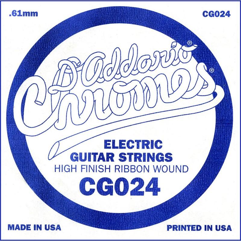 D'Addario Chromes CG024 Flat Wound Single String