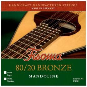 Cuerdas Mandolina Fisoma F3020 80/20 Bronze