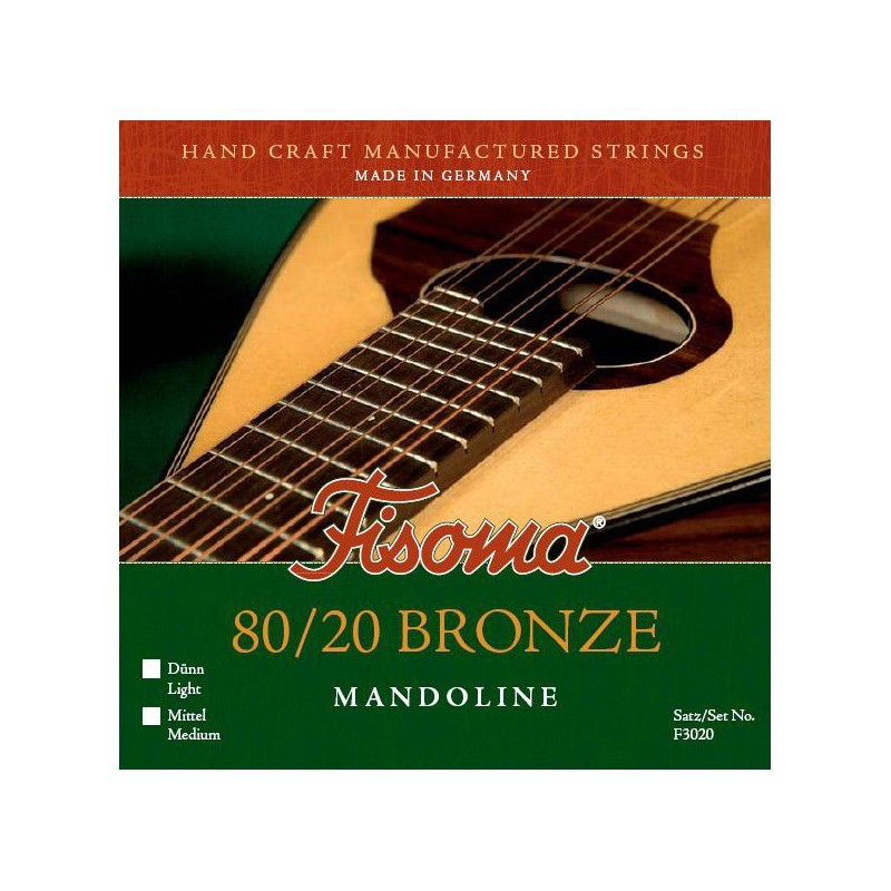 Cuerdas Mandolina Fisoma F3020 80/20 Bronze Consort