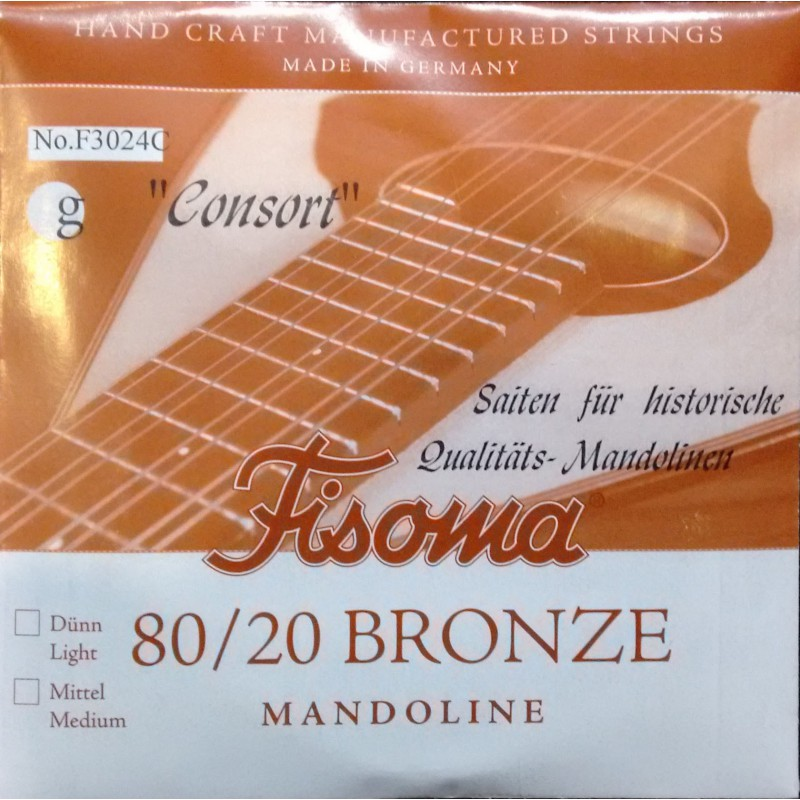 Cuerda Suelta Mandolina FIsoma Consort 3ª F3023C