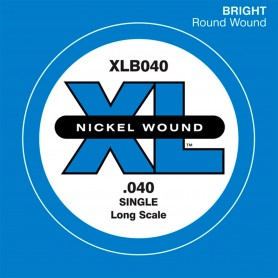 D'Addario Nickel Wound Single Bass String XLB 040
